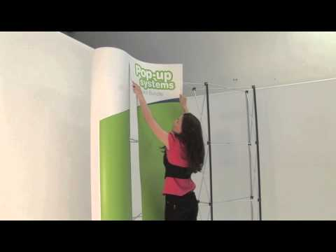 3x3 Pop up Display Package with Graphics-3439