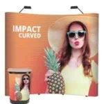 3×3 Pop Up Display Stand with Case & Lights-4004