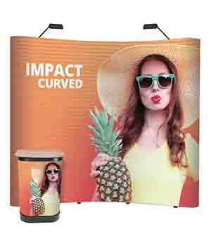 3x3 Pop Up Display Stand with Case & Lights-4004