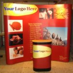 3×3 Pop Up Display Stand with Case & Lights-4009