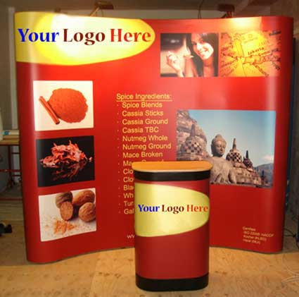 3x3 Pop Up Display Stand with Case & Lights-4009