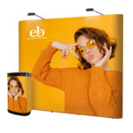 Trade show-Straight 3×3 Exhibition Pop-Up Display-Graphics eb print display Package